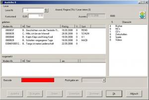 Bibliothekssoftware   FLEISCHMANN   Maske - Ausleihen